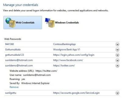 Windows 8 Passwort-Manager