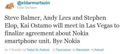 Microsoft-Übernahme der Nokia-Smartphone-Sparte