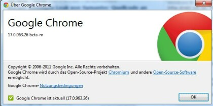 Chrome 17 Beta