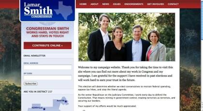 Webseite Lamar Smith