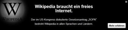 Wikipedia gegen SOPA