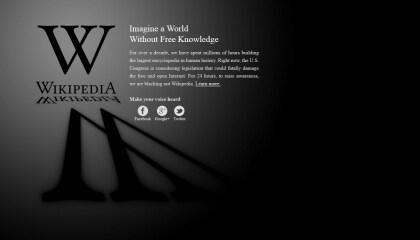 SOPA: Das Internet protestiert