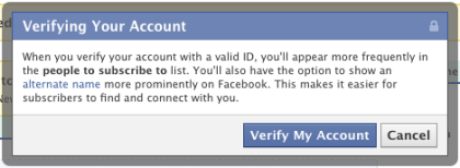 Facebook: Verifizierte Accounts