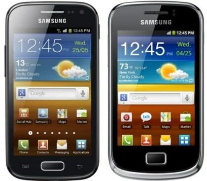 Samsung Galaxy Ace 2 und Galaxy mini 2