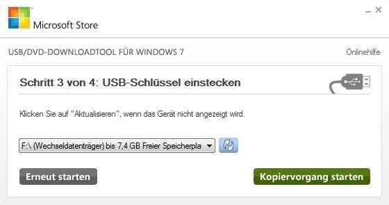 Windows 7 USB/DVD Download-Tool