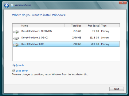 Windows 8 Installation parallel zu Windows 7