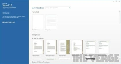 Office 15 Technical Preview