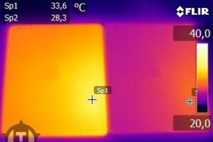 iPad 3 unter Wärmebildkamera