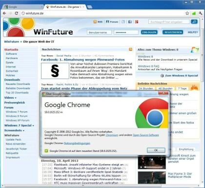 Chrome 18.0.1025.152