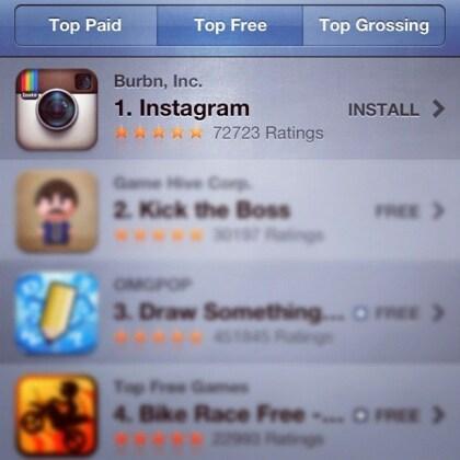 App Store Instagram Nr. 1