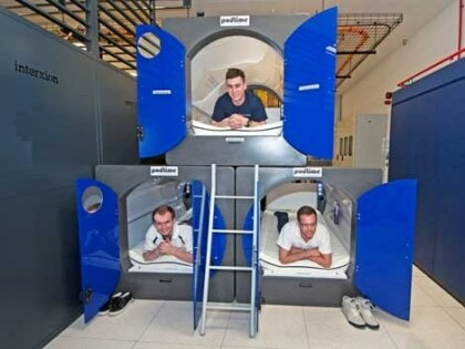 Sleeping Pods bei Interxion