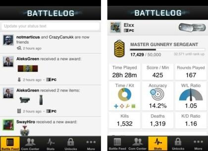 Battlefield 3: Battlelog-App
