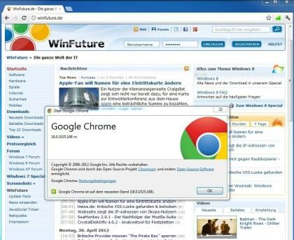 Chrome 18.0.1025.168