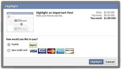 Facebook testet Highlight-Funktion