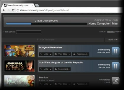 Steam Remote Downloads