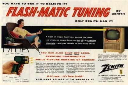 Flash-Matic, die erste kabellose Fernbedienung