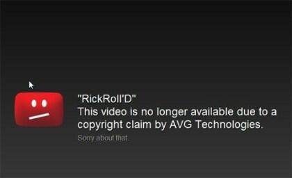 Rickrolling YouTube-Sperre