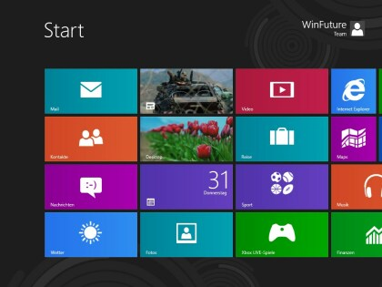 Windows 8 Release Preview in Deutsch