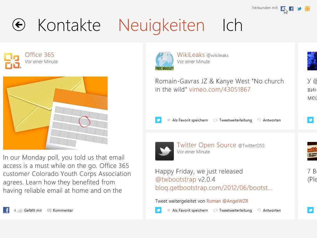 Kontakte Windows 8