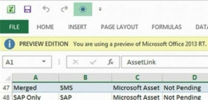 Office 2013 RT Preview Edition