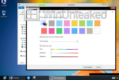 Windows 8: Neuer Pre-RTM-Desktop