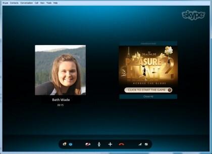 Skype-Werbeeinblendung