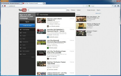 YouTube neues Design 06/12