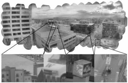 Bild einer Gigapixel-Kamera