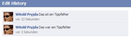 Facebook erlaubt Bearbeiten