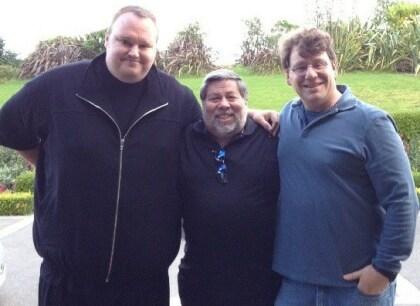Steve Wozniak trifft Kim Dotcom
