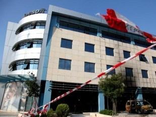 Brandanschlag auf Microsoft Griechenland