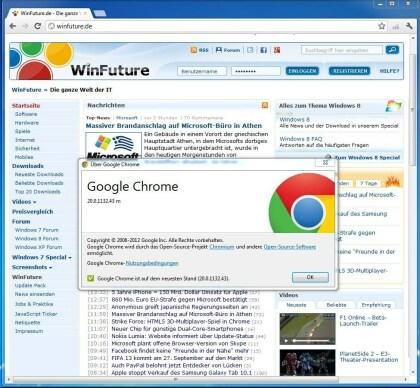 Chrome 20