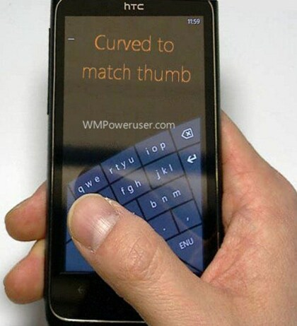 Windows Phone 8 Curved Keyboard