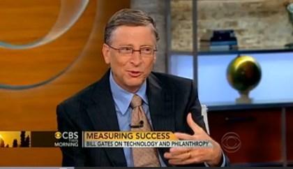 Bill Gates bei Charlie Rose