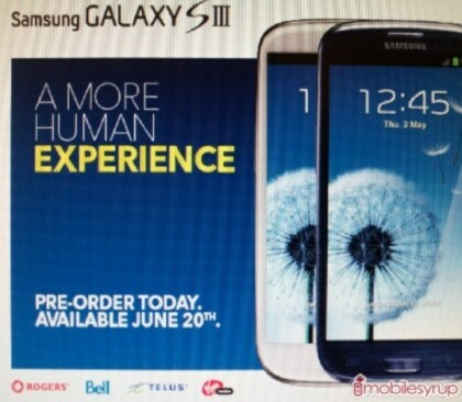 Samsung Galaxy S III Kanada Best Buy Leak