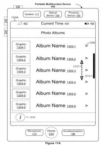 Apple Scroll-Balken Patent