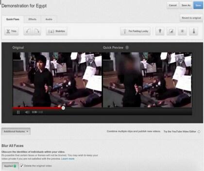 YouTube anonymisiert Gesichter