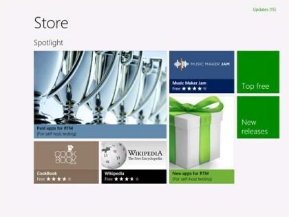 Windows 8: RTM Windows Store