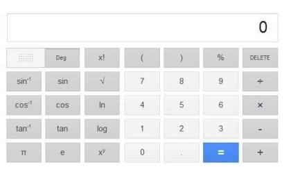 Google-Taschenrechner überarbeitet