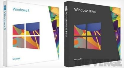 Windows 8 Verpackungen