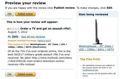 Amazon: Sturmgewehr statt TV