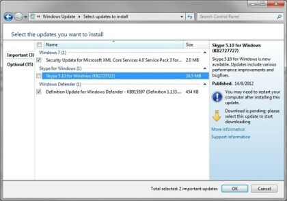 Skype Windows-Update
