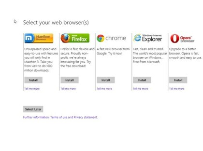 Windows 8 Browserwahl