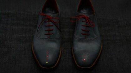 Designer-Schuhe mit GPS-Navigation