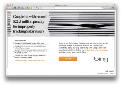 Bing: Datenschutzkampagne gegen Google
