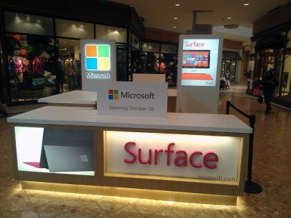 Microsoft Surface Pop-Up-Store