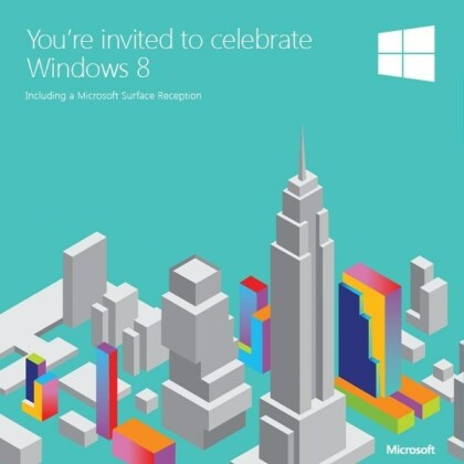 Windows 8 & Surface Launch Einladung
