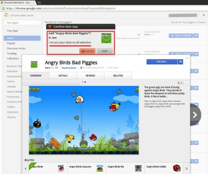 Angry Birds Chrome Falle