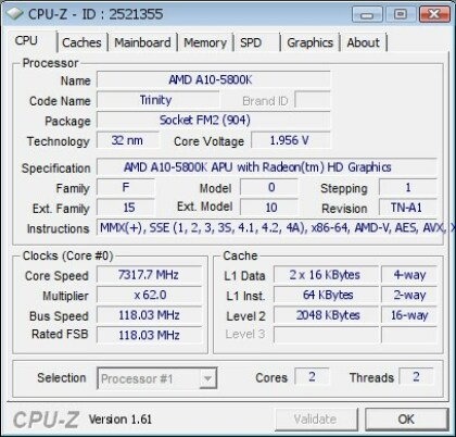 AMD Trinity Overclock