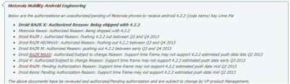 Hinweis auf Motorola Nexus
